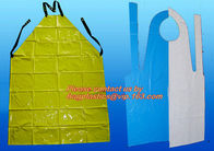Aseptic Blue Plastic Disposable Apron for Doctor Checking,Disposable aprons PE medical doctor apron,PE Apron For Doctor