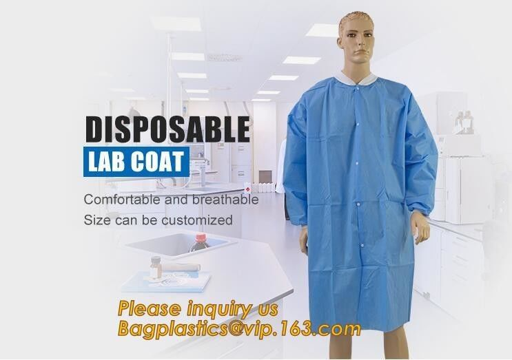 Disposable Isolation Non- Woven Gown,Disposable Hospital Non woven Medical White Lab Coat,Disposable Industrial Overall